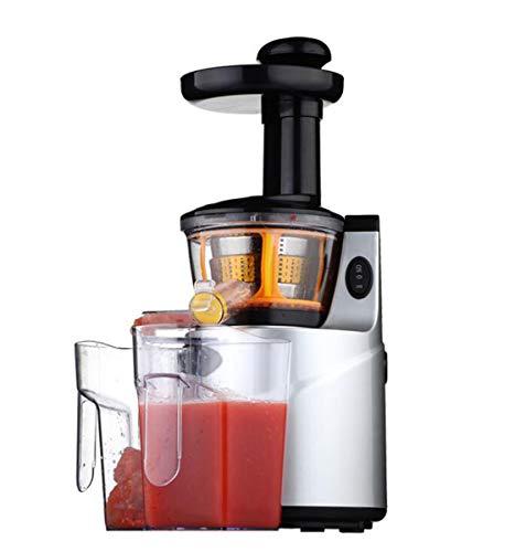 Exprimidor de Jugo Lento Multifunción Máquina Exprimidor de Jugos Cítricos Extractor de Jugo Compacto para el Hogar Fuente de Agua Silver150W 2-3 Personas