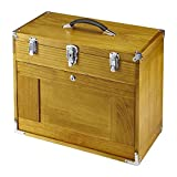 Machinist Eight (8) Drawer Hardwood Toolbox Lockable Chest Secure Portable Box with Walnut Finish