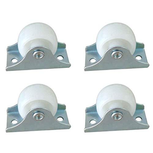Topker 4pc / Set Kunststoff 25mm Durchmesser Möbel Furniture Caster,Orienteering Caster,Caster Wheel Ersatz Stützrad Orienteering Schublade Stützrad