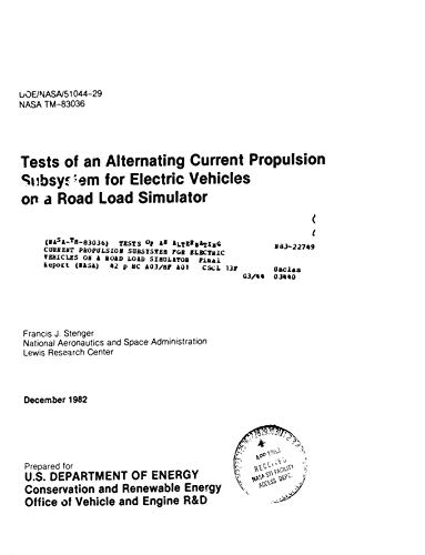 Tests of an alternating current propulsion subsystem for electric vehicles on a road load simulator (English Edition)