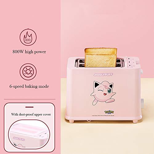 SSZZ Tostadora Pequeña Tostadora para El Desayuno En Casa Tostadora para Sándwich Mini Tostadora para Calentar Rebanadas De Pan 6 Modos De Horneado,B