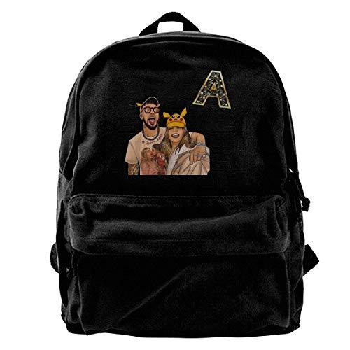 Homebe Mochila antirrobo Impermeable,Canvas Laptop Backpack Waterproof School Bookbag for Men Women Karol-G Outdoor Travel Daypack College Student Rucksack Fits Up to 15.6 Inch Computer