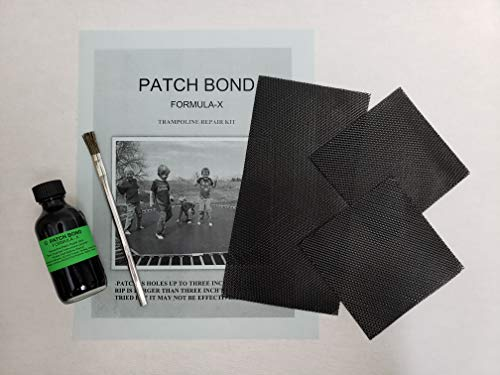 Formula X Trampoline Mat Repair Kit-Glue on Patches 8'X 4'-4'X 4' Repair Holes or Tears