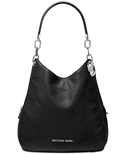 Lillie shoulder bag combines timeless glamour with everyday functionality. Designed in a slouchy shape and detailed with our signature hardware, this carryall features a pebbled-leather exterior that opens to reveal two snap compartments and a secure...