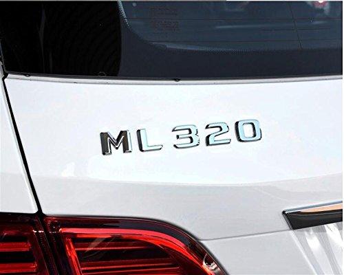 E813 ML 320 Emblem Badge auto aufkleber Schriftzug hinten Abzeichen car Sticker Zahlziffer Chrom ML 230