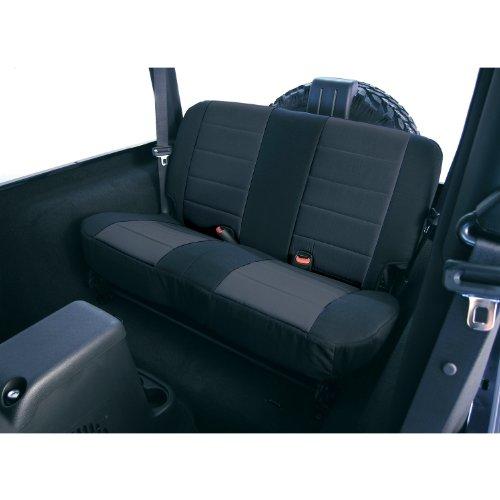 amc auto seat covers Rugged Ridge 13262.01 Seat Cover, Rear, Neoprene Black; 80-95 Jeep CJ/Wrangler YJ