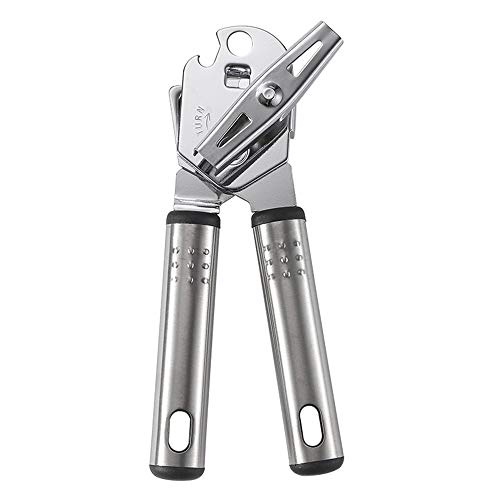 YOTH Can Opener,Kitchen Stainless Steel Heavy Duty Manual 3-in-1 Tin Beer Jar Bottle Opener Food Safe Handheld Cut Tool