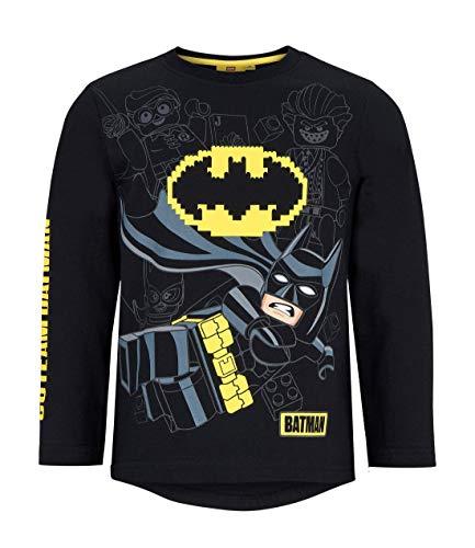 LEGO Jungen Batman Langarmshirt, Schwarz (Noir), 104
