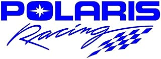 Polaris Racing Decal Sticker - Peel and Stick Sticker Graphic - - Auto, Wall, Laptop, Cell, Truck Sticker for Windows, Cars, Trucks