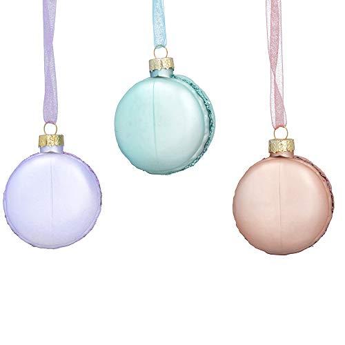 Gisela Graham Bola colgante de cristal pastel de 5 cm para árbol de Navidad