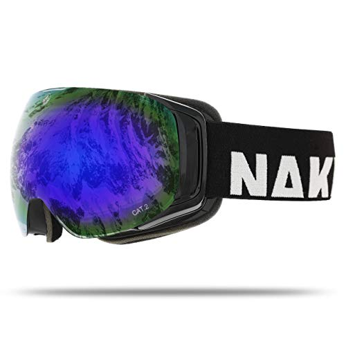 NAKED Optics Force EVO Black (Blue Lens), inkl. Schlechtwetterglas