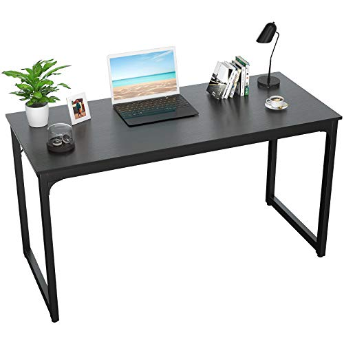 Foxemart Writing Computer Desk Modern Sturdy Office Desk PC Laptop Notebook Study Table for Home Office Workstation, Black