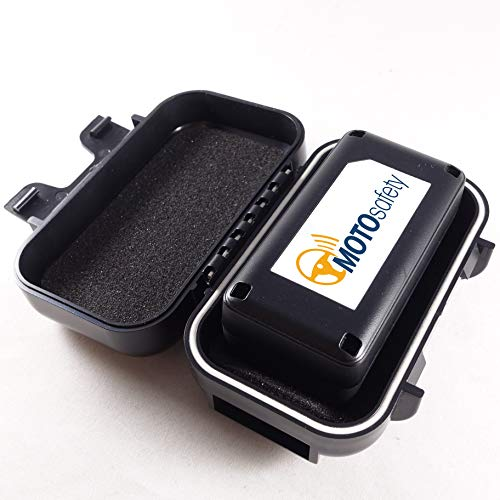 Car Tracker - MOTOsafety Mini Portable Real time Personal Tracking & GPS Tracker with Magnetic Hardshell Case