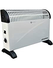 Schallen 2000W Electric Convector Radiator Heater - 3 Heat Settings, Adjustable Thermostat & Overheat Protection - WHITE