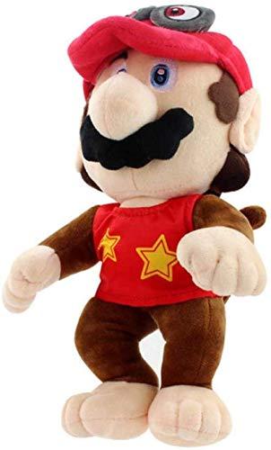 EREL Mario Odyssey Mario Plüschspielzeug in Brandkostüm Princess Cappy Koopa Bowser Soft Monkey Plüschpuppen 30 cm dedu