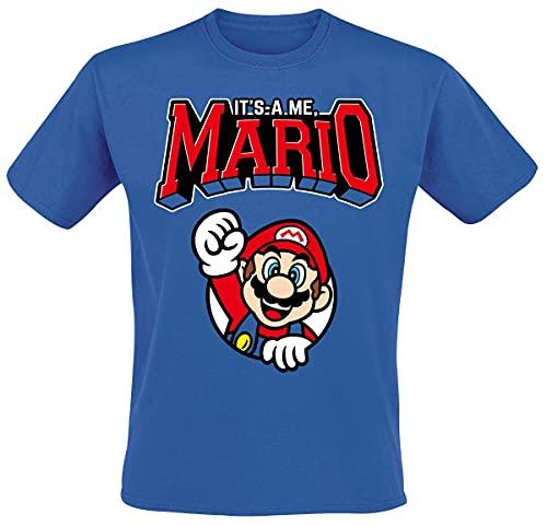 Super Mario Varsity Männer T-Shirt blau XL