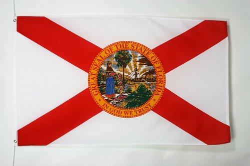 AZ FLAG Flagge Florida 90x60cm - Bundesstaat Florida Fahne 60 x 90 cm - flaggen Top Qualität