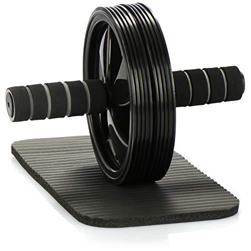 com-four® Bauchtrainer - Bauchroller für intensives Bauchmuskeltraining - Ab-Roller für das Fitnesstraining Zuhause und unterwegs