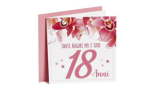 Biglietto di Auguri, biglietto di compleanno 18 anni per le tue amiche, per ragazze, persone care....