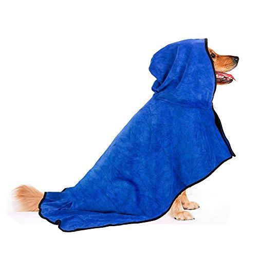 BASEN Pet Bathrobe, Fast Dry Pet Bath Towel, Quickly Absorbing Water Bath...