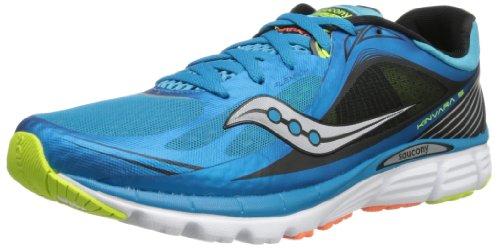 Saucony Men's Kinvara 5 Running Shoe,Blue/Black/Citron,12 M US