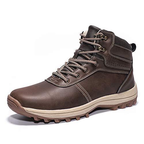 Trekking Botas Hombre Impermeables Zapatillas de Senderismo Deportes Exterior Sneakers Marron Oscuro...