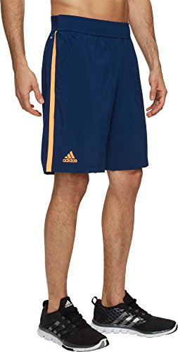 adidas Hombres de la Ventaja de Tenis Pantalones Cortos, Hombre, Mystery Blue Glow Orange
