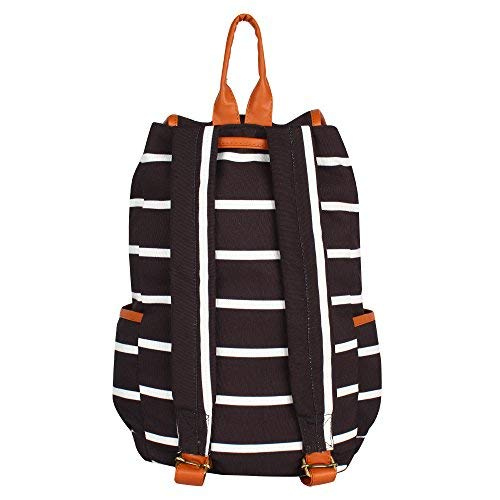 Lychee bags Girl's Canvas Backpack (Black)