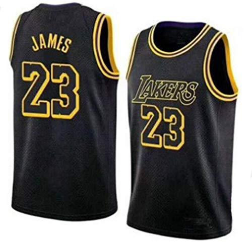 Zxwzzz Uniforme Los Angeles Lakers No.23 Baloncesto, Lebron James Summer Sports NBA Jersey, Adulto Y Uniformes De Baloncesto De Los Niños, Baloncesto Jersey Gran (Color : Black, Size : Small)