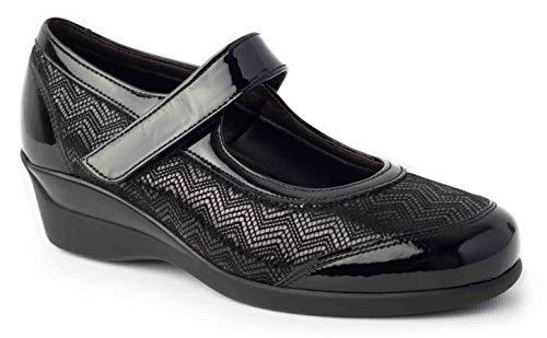 Calzafarma - Mod.14110 - Zapato de señora con Pala Elástica Ideal para juanetes y deformaciones, Aptos para Utilizar con Plantillas ortopédicas. (Numeric_40) ✅