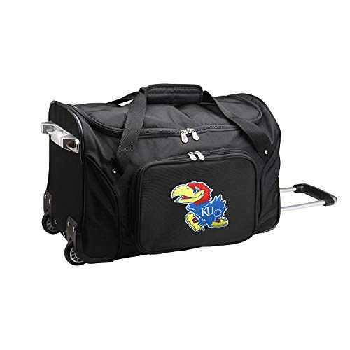 NCAA Kansas Jayhawks Wheeled Duffel Bag, 22-inches, CLKUL401