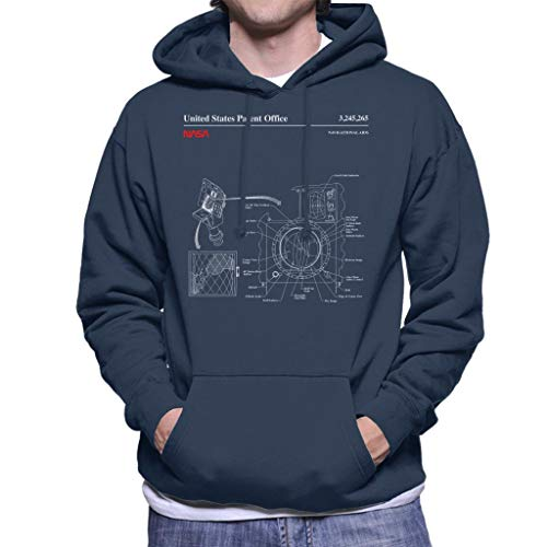 Nasa Navigational Aids Blueprint Men's Hooded Sweatshirt