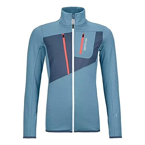 ORTOVOX Fleece Grid Jacket Giacca da donna, Donna, giacca, 87202, Azzurro, M