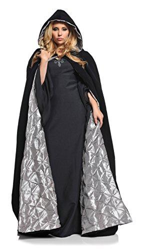 Underwraps Gothic Vampire 63in Velvet Satin Cloak OS