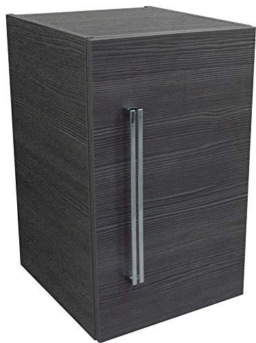 FACKELMANN Unterbauschrank Lugano/Soft-Close-System/Maße (B x H x T): ca. 35 x 59 x 39 cm/hochwertiger Schrank fürs Bad/Türanschlag rechts/Korpus: Grau/Front: Grau/Breite 35 cm