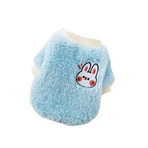 Yodio Cálido y bonito jersey de forro polar de coral para gato, de dos patas, para otoño e invierno, ropa para mascotas