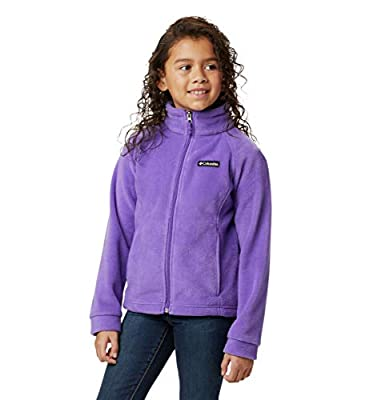 Columbia Girls Benton Springs Fleece Jacket, Grape Gum, Medium
