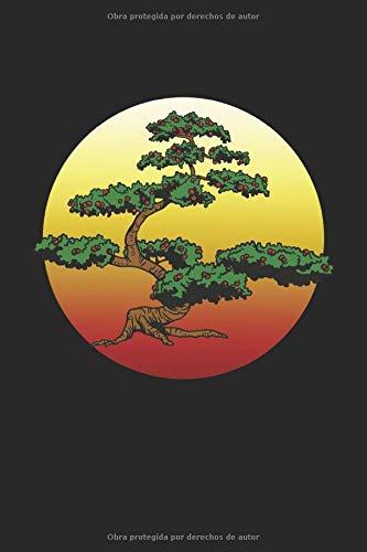 Bonsai frente a la puesta de sol: Bonsai árbol hobby cultivador de jardín regalos cuaderno cuadrícula de puntos punteados (formato A5, 15,24 x 22,86 cm, 120 páginas)