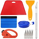 Wallpaper Smoothing Tool Kit Include red Squeegee,Medium-Hardness Squeegee, Black Tape Measure,snitty Vinyl...