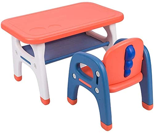 N/Z Daily Equipment Children's Desks Kids Desk and Chair Set Kids Desk and Chair Set Kindergarten Children Desk Chair Set Toy Combined Study Table and Chair Set Home Game Table