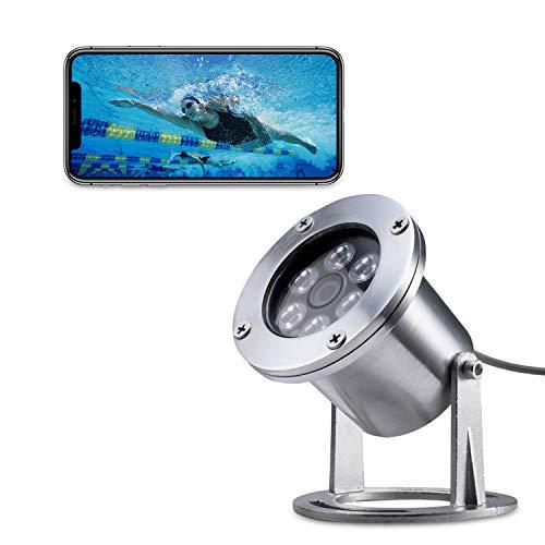 Barlus Underwater Camera 304 Stainless Steel IP68 1080P 2MP POE IP Camera 5 Meters Length Special Line Lens 3.6MM