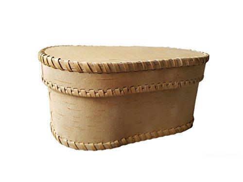 Brotkasten Holz Brotdose Birkenrinde 28x13cm Handgefertigt, hochwertiges Material