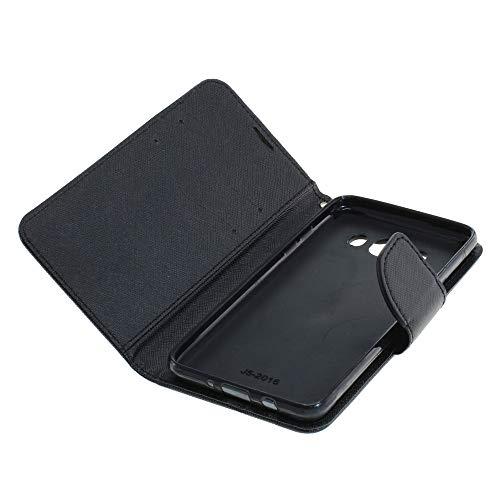 Mobilfunk Krause - Book Hülle Fancy Etui Handytasche Tasche Hülle für Samsung Galaxy J5 (2016) (Schwarz)