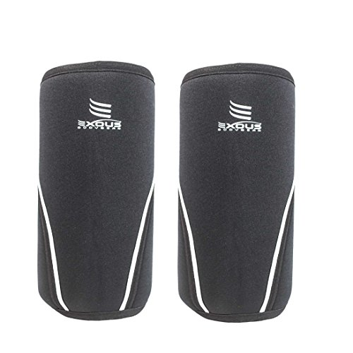 Knee Sleeves 7mm [1 Pair] Performance Neoprene For Weight Lifting Injury Recovery Cross-Fit Powerlifting Squats For Men & Women [small]