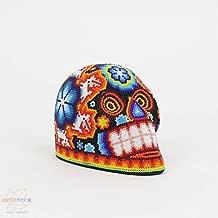 Huichol Art - Skull Art - Huichol Beaded Skull - Mexican Art - Mexican Folk Art - Mexican Skull - Cinco De Mayo - Cinco De Mayo Decor - Indigenous Art - Beaded Art - Sugar Skull - Multicolored