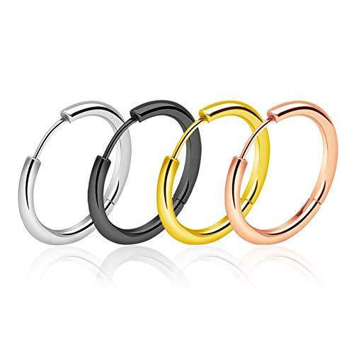 Kpcxdp Pendientes de Moda Pendientes Hombres y Mujeres círculo Redondo Gran círculo Hebilla de Oreja Titanio Acero Inoxidable joyería de Oreja Nuevo 2020