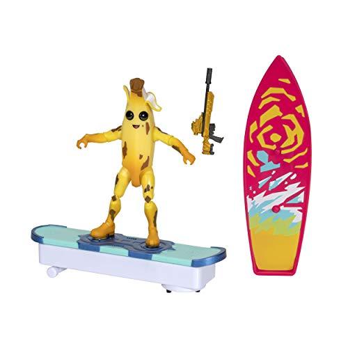 Fortnite FNT0466 - Pannello frontale intercambiabile per tavola da surf e Driftboard da 10,5 cm, con personaggio Peely Figure e Storm Scout Sniper Rifle-Electronic Bump & Go Action