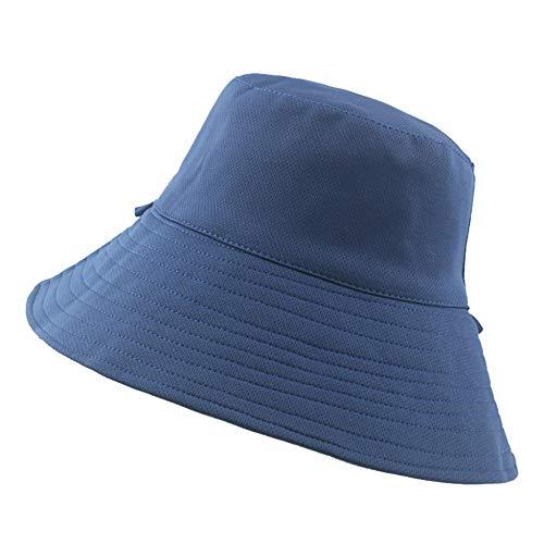 ZHENQIUFA Sombrero Pescador Gorras Sombreros De Cubo para Mujer, Sombrero De Pescador De Doble Cara, Escalada Al Aire Libre, A Prueba De Sol, Todo Fósforo, Elegante, Sombreros para El Sol, Azul