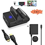 BIG Bundle: Switch Portable TV dock, pocket TV docking station, Nintendo Switch Charger fast charging Adapter and High Speed 4K HDMI Cable