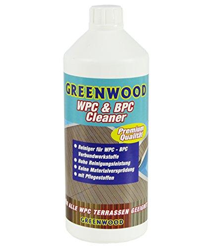 Greenwood WPC & BPC Reiniger mit Pflege - Reinigungsmittel & Pflegemittel - Konzentrat - Reinigen & Pflegen von Terrassen-Dielen - pH Neutral - 1 L